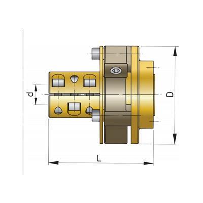 Acople Eje Bullflex N 4 Eje D 30 mm