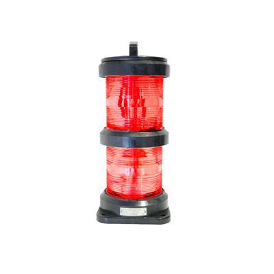 Luz de navegación para barco mayor a 50 mts de eslora doble roja 360º