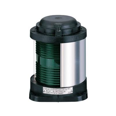 Luz de navegación para barco hasta 50 mts de eslora h200mm banda verde 112.5º verde