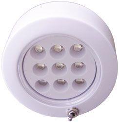 Plafón led ¢ 72mm 9 led con interruptor