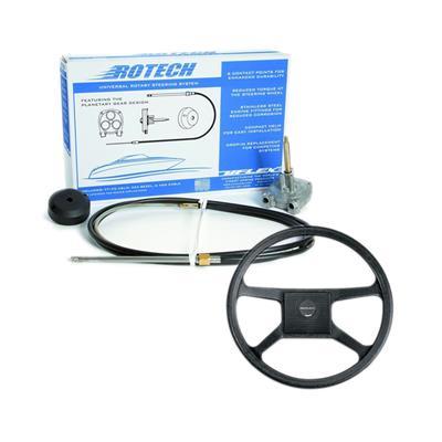 caja de dirección t71 + volante + cubre + cable de 17 pies