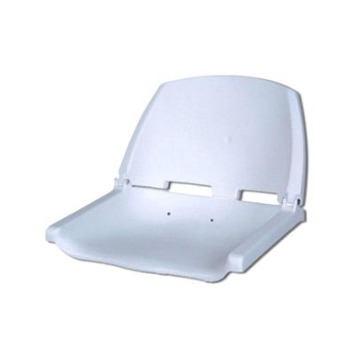 Butaca Plástica Rebatible Sin Acolchado Blanca