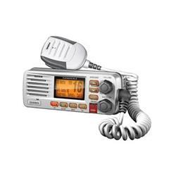 Radio base uniden solara D UM380 blanca con señal de llamada de auxilio DSC