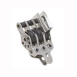 Motón micro cabo 5mm d17mm 3 ruedas arraigo y mordaza