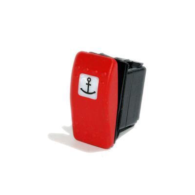 interruptor waterproof con led 2 posiciones logo luz fondeo tecla roja