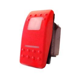 interruptor waterproof con led 2 posiciones logo limpiaparabrisas tecla roja