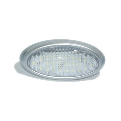 Plafón led oval 30 led luz blanca 100x200mm