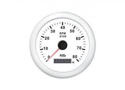 Cuentarevoluciones + cuentahoras 8000 rpm con cuenta horas aro blanco