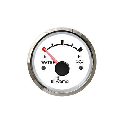 Indicador de nivel de agua aro inoxidable opción blanco o negro