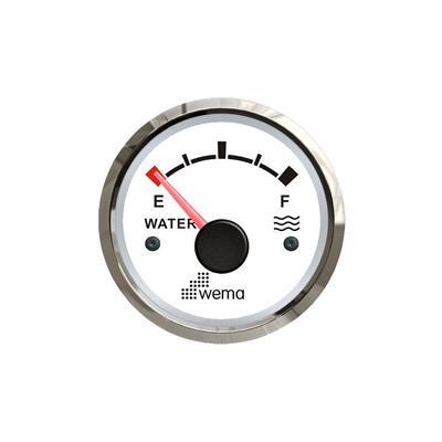 Indicador de presión de aceite 2bar aro inoxidable opción blanco o negro