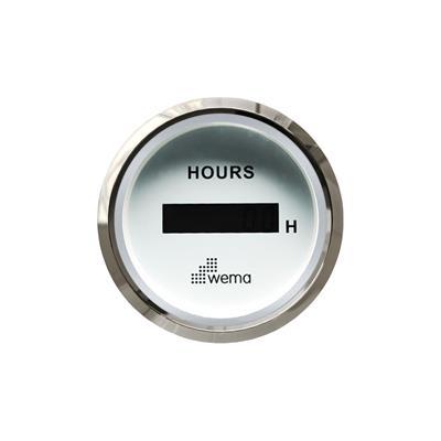 Cuentahoras digital aro cromado wema opción blanco o negro wema