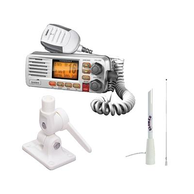 Radio base combo um380 blanca + antena 1.5 mts + base antena rebatible