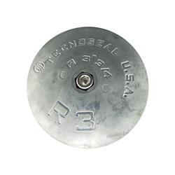 Ánodo disco mar zinc rudder 3.3/4 cmr03