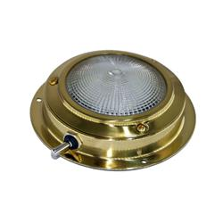 Plafón led ¢110mm bronce pulido con interruptor