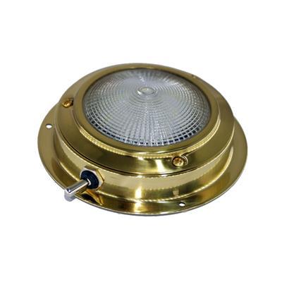 Plafón led ¢110mm bronce pulido con interruptor