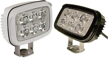 Faro fijo 6 led 100x85mm con regulacion