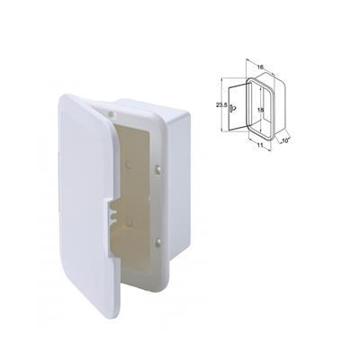 Duchador Caja Sola Embutir 175x110 Con Tapa