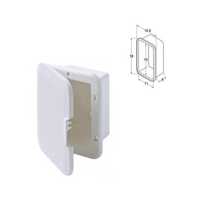Duchador Caja Sola Embutir 210x165x110 Con Tapa