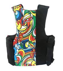 Chaleco wakeboard 4 tiras 3l 60/80 para alta perfomancia