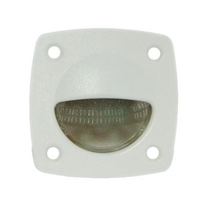 Luz de cortesia 3 led luz blanca frente balnco 57x57mm