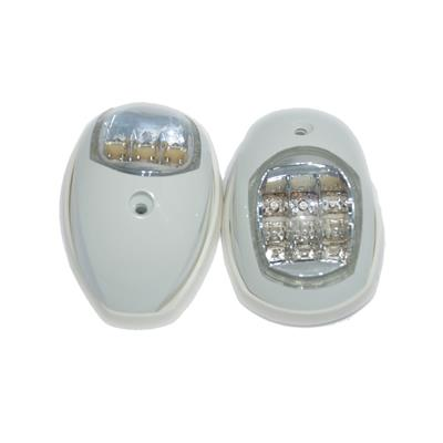 Luz De Banda Con Led Abs Blanco 97x60mm El Par