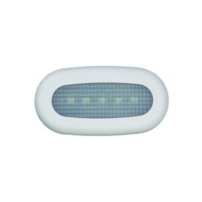 Luz de cortesia 5 led luz blanca oval 72x37mm