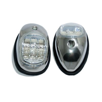 Luz De Banda Par Led 97x60mm Par Inoxidable