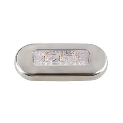 Luz de cortesia 3 led luz calida oval 75x32mm