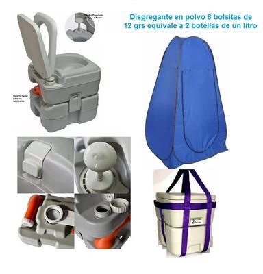 Inodoro Quimico o Kit con  Bomba  20 L + 2 Liq + Arnes + con arpa     Sin xducon ha
