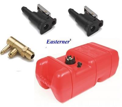 Tanque Kit 22L Yama Merc + Conector Macho + 2 Conector Hembra + Pera 6434 8452 6437 6433