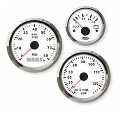 Cuentarevoluciones 8000 rpm con cuenta horas aro cromado opción blanco o negro