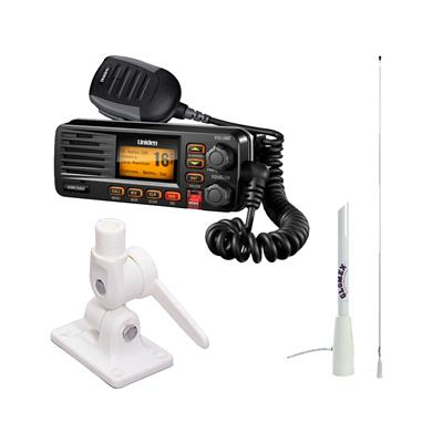 Radio base combo um380 negra + antena 2.40 mts + base antena rebatible
