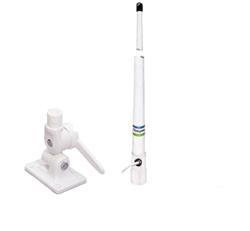 Radio base combo um380 negra + antena 2.40 mts + base antena rebatible