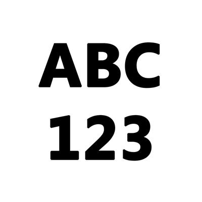 Numero Autoadh 8Cm Para Gomon