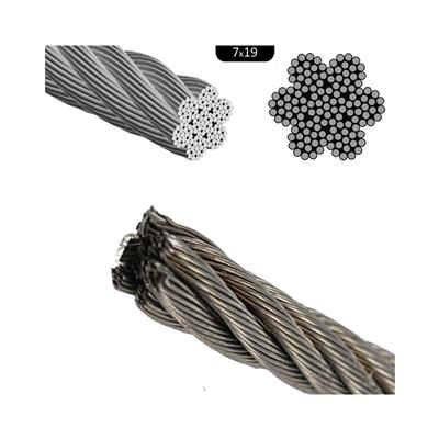 Cable de acero inoxidable rígido ¢ 3mm (7x19) aisi 316