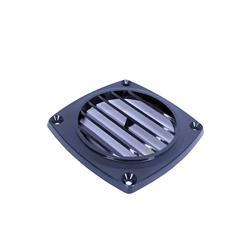 Rejilla abs 92x92mm negra plana p/extractor aire