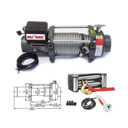 Malacate Vehicular 12V 5443Kg / 12000Lbs Con Contro Remoto
