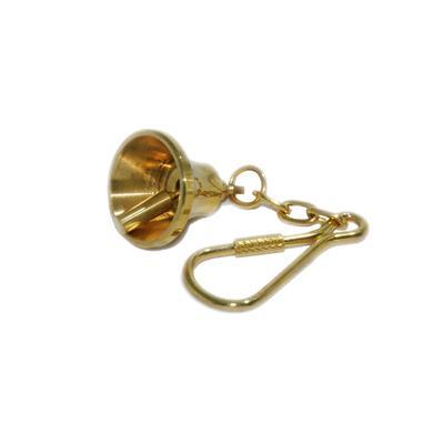 Llavero campana bronce pulido
