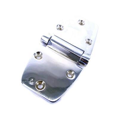 Bisagra De Bronce Cromado Simétrica 58X115 Mm 6 Agujeros