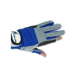Guantes 2 dedos cortos 3/l blue