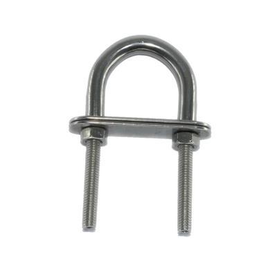 Cáncamo de acero inoxidable 2 Pernos con tope  (Diámetro 6 x 81 mm)
