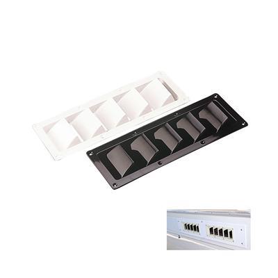 Rejilla Ventilacion ABS 5 Ale Blanca 305x83 mm