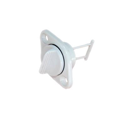 Tapon popa rosca abs ¢25mm oval blanco c/traba