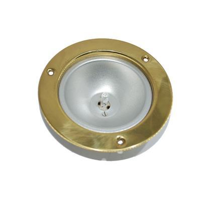 Plafón D133mm embutir bronce orientable hella