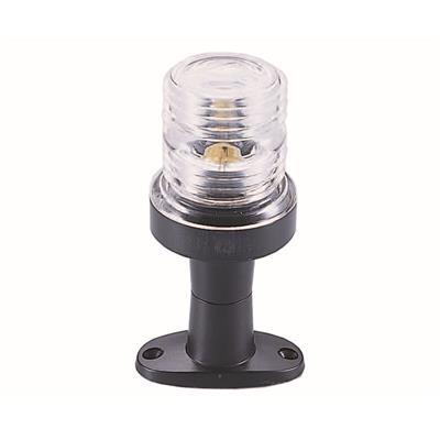 Luz de fondeo con base abs blanca altura 120mm