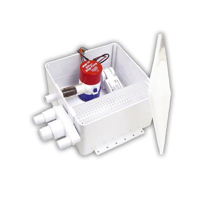 Caja Receptora de Ducha Rule 98 con Bomba 800 GPH