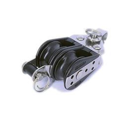 Motón cabo 6mm d22mm 2 ruedas con arraigo 10.54