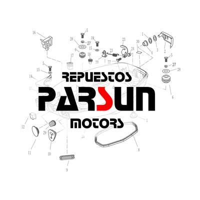 F15-01010313 Y 63V-43350-01 Horquilla Soporte 10/18