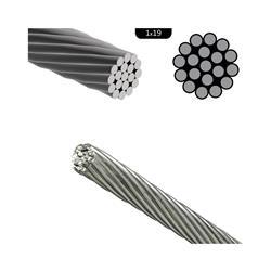 Cable de acero inoxidable rígido ¢ 6mm (1x19) aisi 316