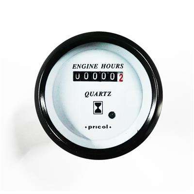 Cuenta Horas Mecánico Aro Negro Pricol 12v